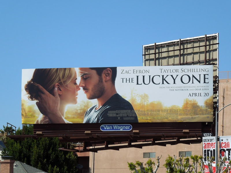 The Lucky One movie billboard