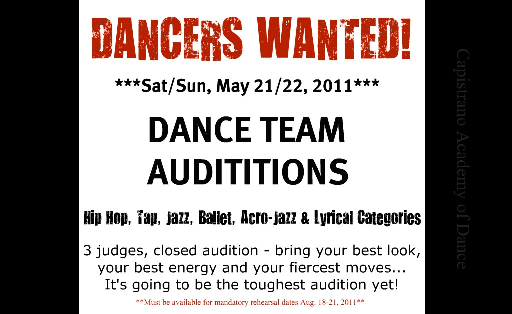 dt auditions in 3 weeks capistrano academy of dance