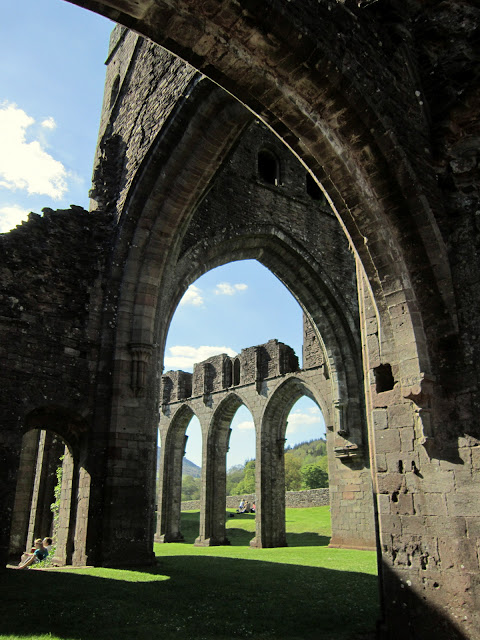 Through the arches at Llanthony Priory