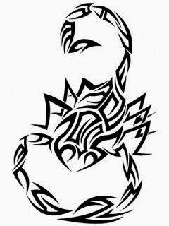Diseño Tatuaje tribal signo Escorpión 01