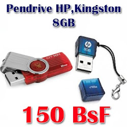 Pendrive HP,Kingston 8GB