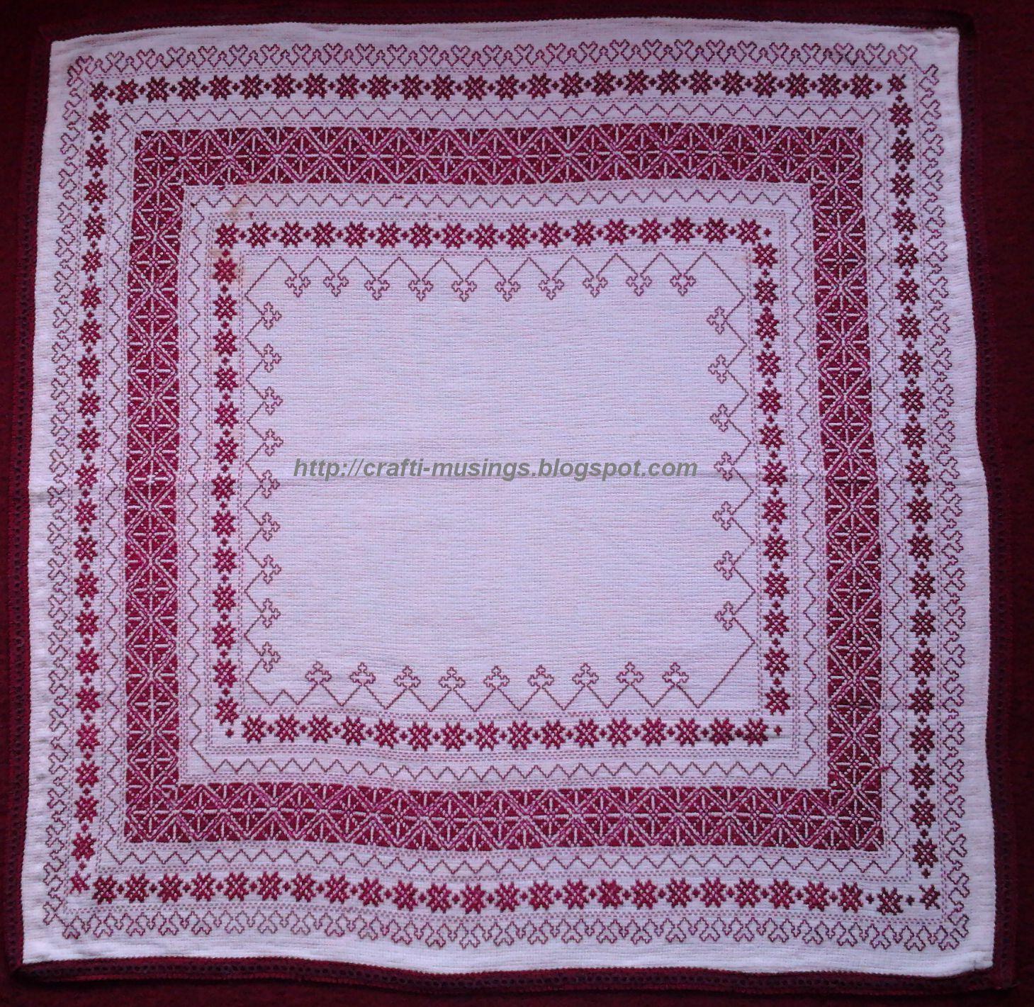 Crafti Musings Cross Stitch Norwegian Motif My Best One Yet