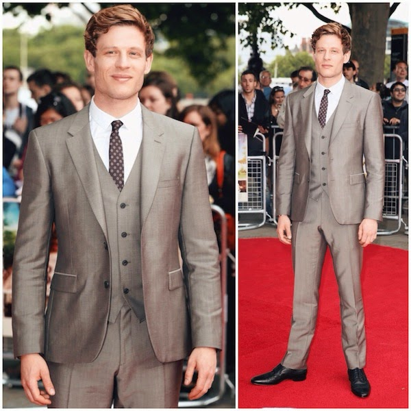 James Norton Burberry suit 'Belle' UK Premiere