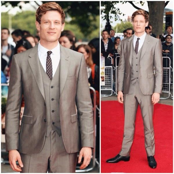 James Norton Burberry suit 'Belle' UK Premiere