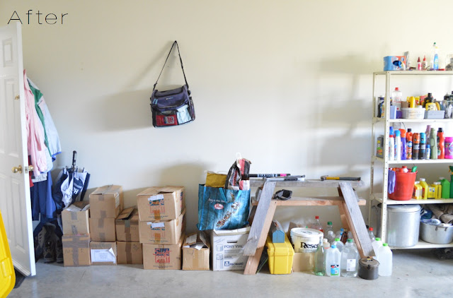 Garage organisation before and afters, by Amy MacLeod, Five Kinds of Happy blog