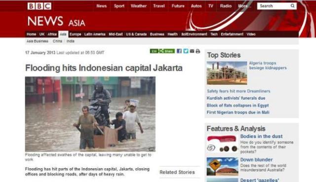 Media cetak dan Berita luar negeri online tidak lupa meliput keaadaan