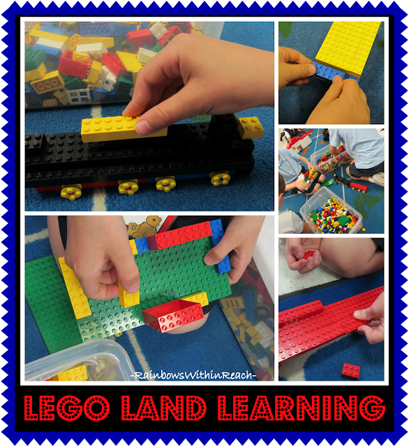 photo of: Using Lego Building Blocks to develop Fine Motor Skills