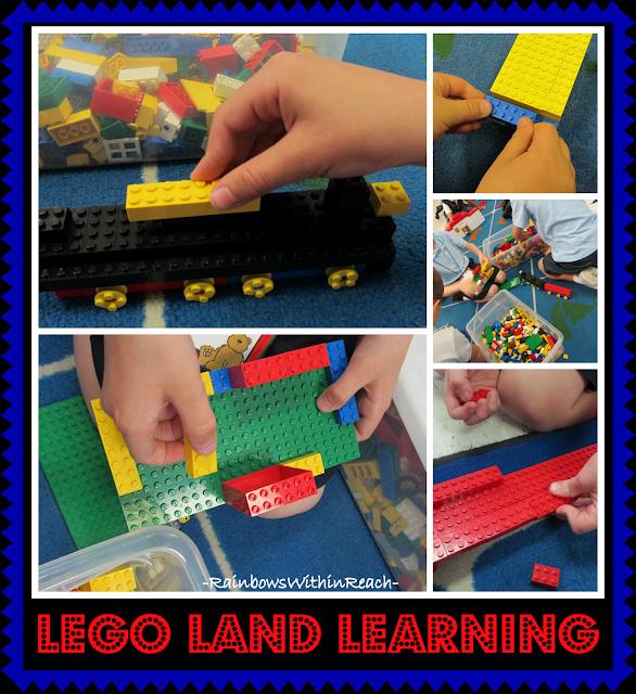 photo of: Using Lego Building Blocks to develop Fine Motor Skills