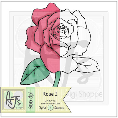 Rose, Digital Stamp, Flower