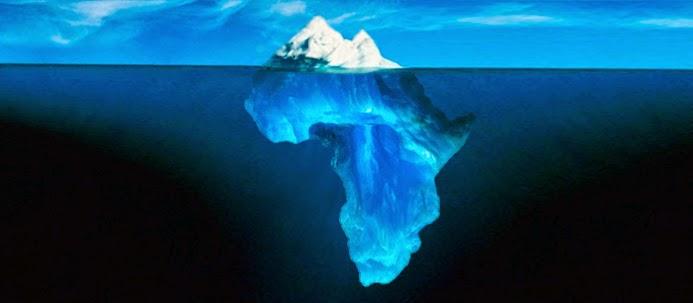 Icebergue transformado em África