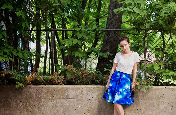 Galaxy-print-skirt-vintage-boho