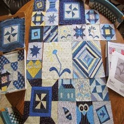 Click here to see all the My Favorite Block Quilt Along -- all in Blues