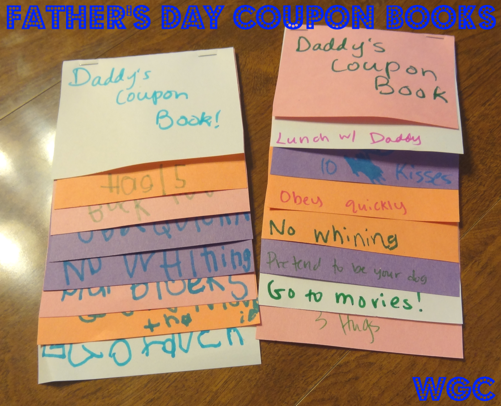 coupon book for parents