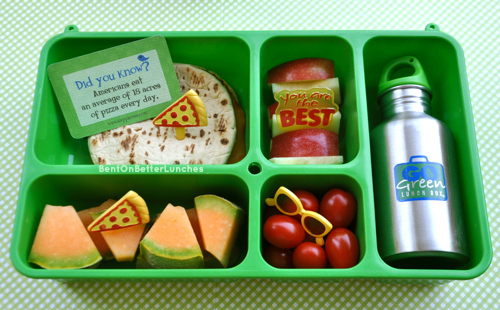 Pizza theme Go Green Lunch Box