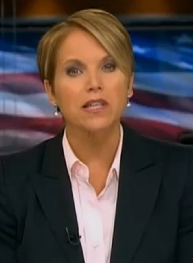 katie couric legs pictures. When Katie Couric became the