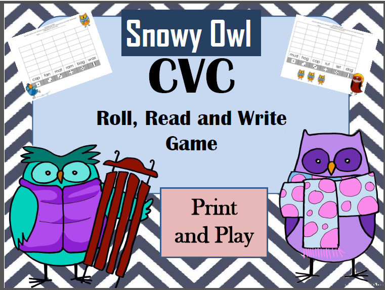 http://www.teacherspayteachers.com/Product/CVC-words-Winter-Roll-Read-and-Write-1577455