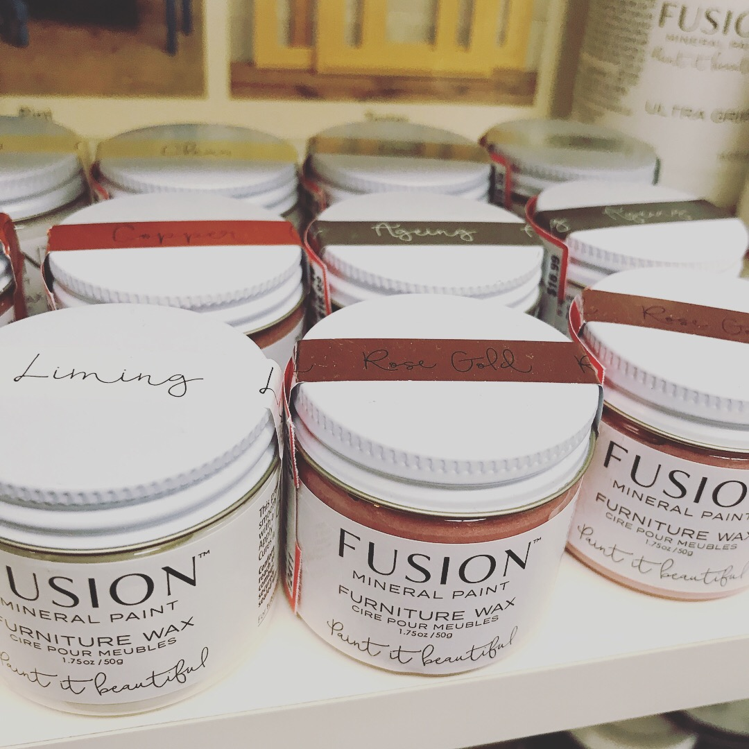 Fusion Mineral Paint Furniture Wax now available!
