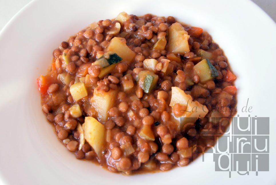 La cocina de cuquimurruqui lentejas con verduras for Formas de cocinar lentejas