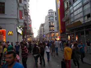 Istiklal street in Istanbul.