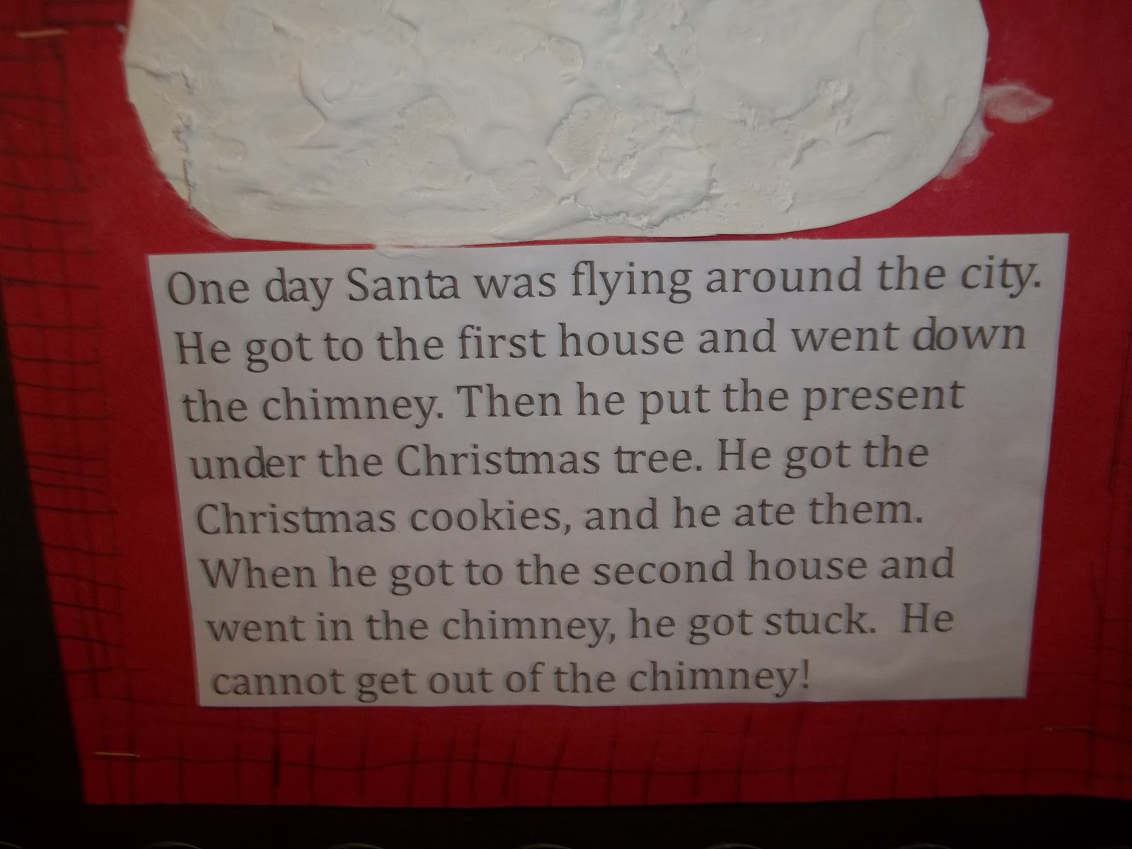santa got stuck in the chimney text