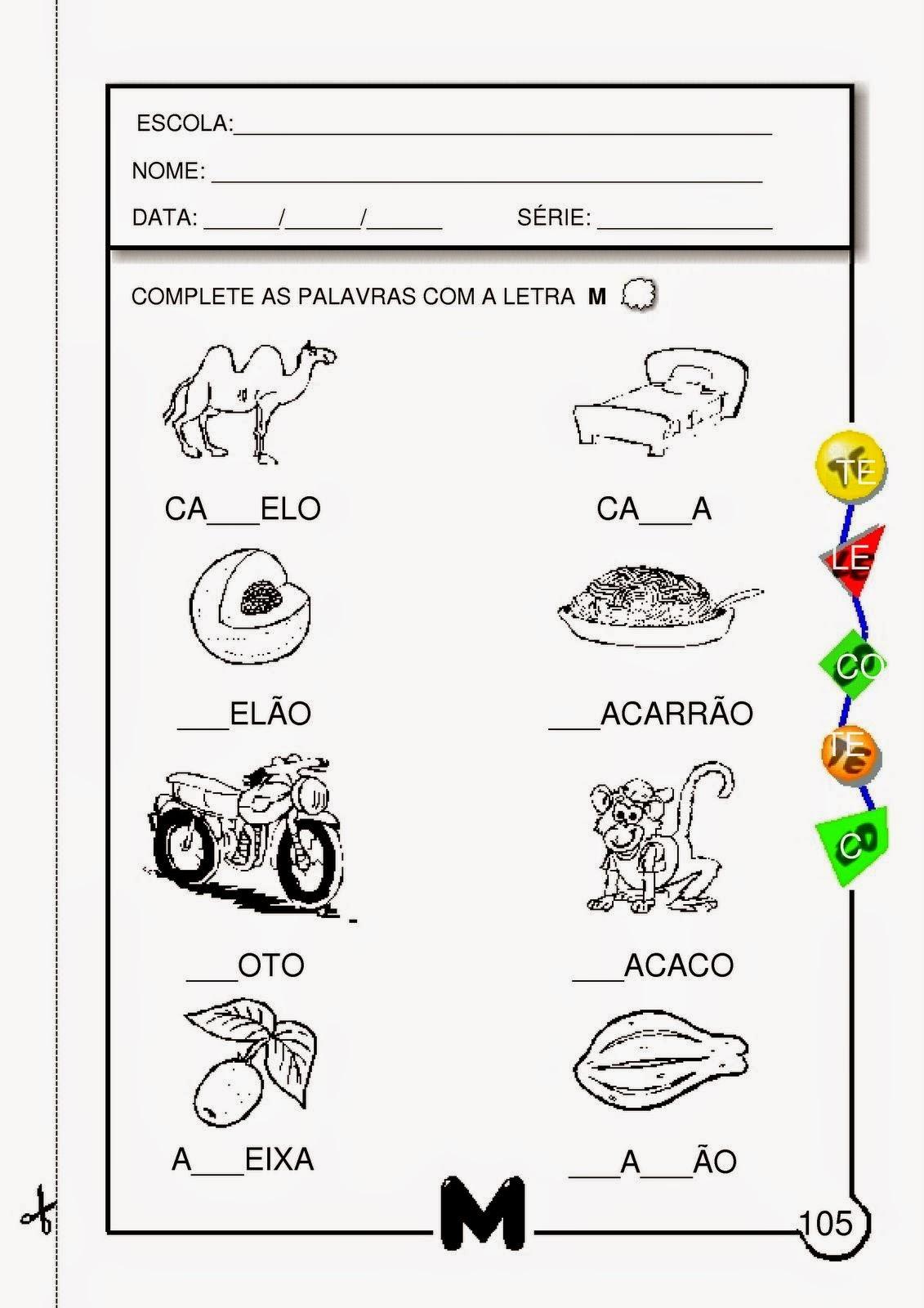 Famosos Atividades com a letra M para Educação Infantil | Viver de Educar FL85