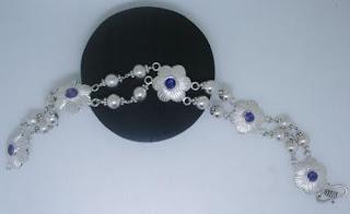 925 Sterling Silver Flower Designed Bracelet