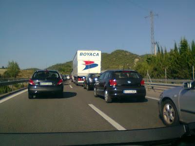 Atasco en la autopista