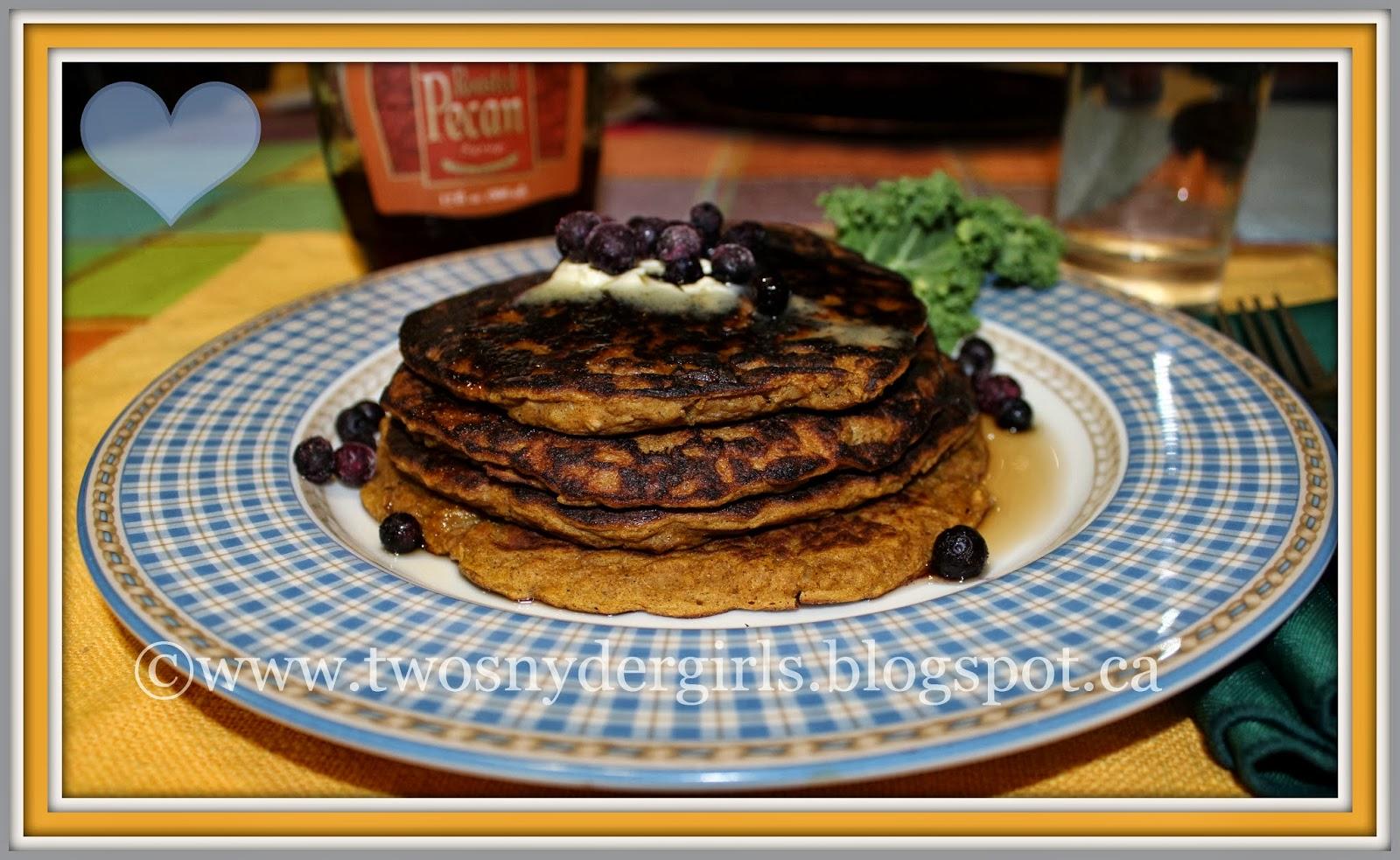 gluten free pumpkin oatmeal pancakes