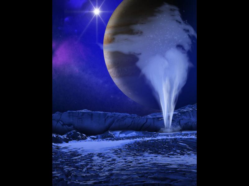 Cartoon Moon Surface Surface of The Jovian Moon