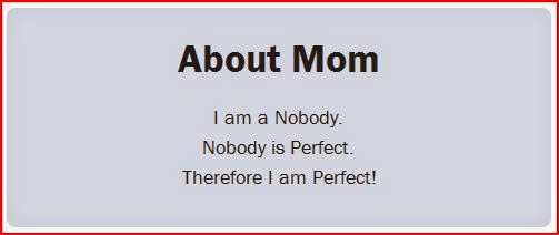 about mom - i am a nobody