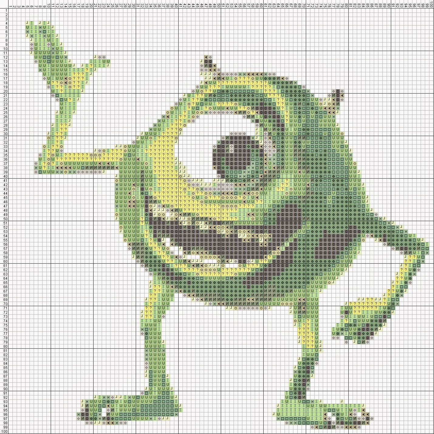 Gambar Pola Kristik - Mike Wazowski - Monster Inc.