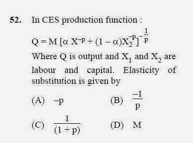 2012 December UGC NET in Economics, Paper III, Question 52