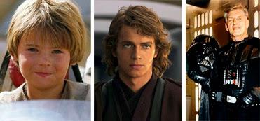 Sebastian Shaw y Hayden Christensen como Skywalker