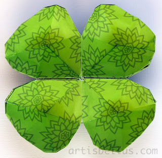 St. Patrick's Day Origami: Clover Bowl