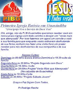 Verão Mais Que Abençoado é na Primeira Igreja Batista em Guaxindiba...