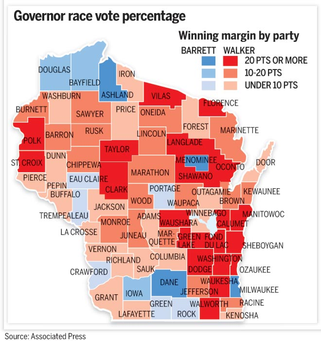 Alfa Img  Showing Gt Wisconsin Political Map 2012