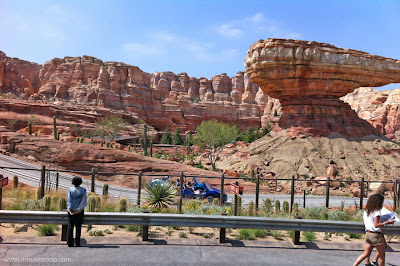 Radiator Springs Racers Butte mountains