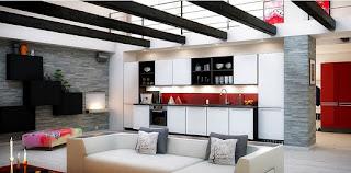 cucina con il soggiorno