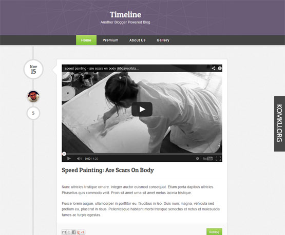 Best Blogger Templates Part II - Timeline blogger template