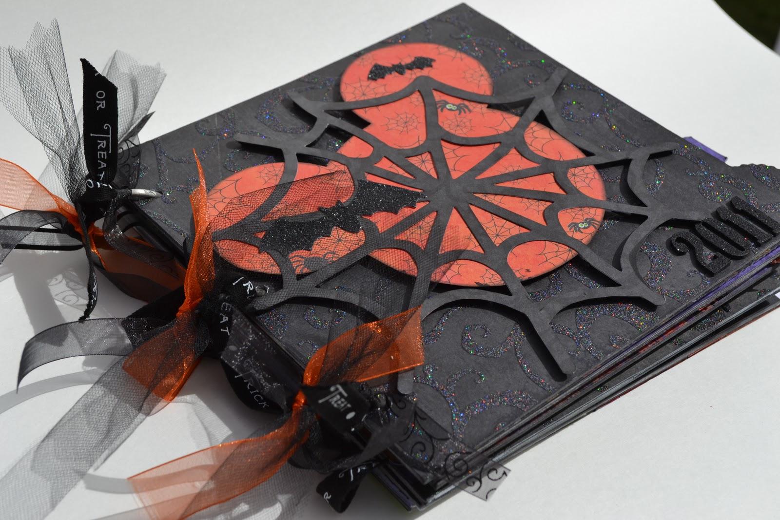 scrappy stuff: disney halloween mini album 8x8