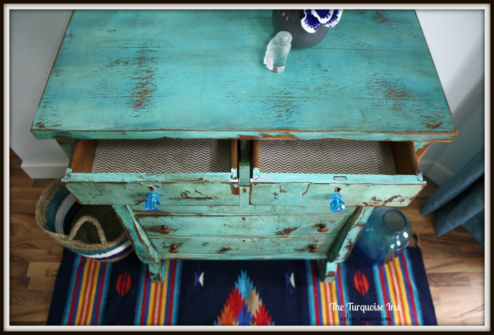The Turquoise Iris Furniture & Art Turquoise Heavily