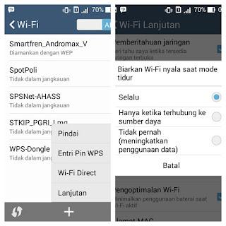 Pengaturan wifi
