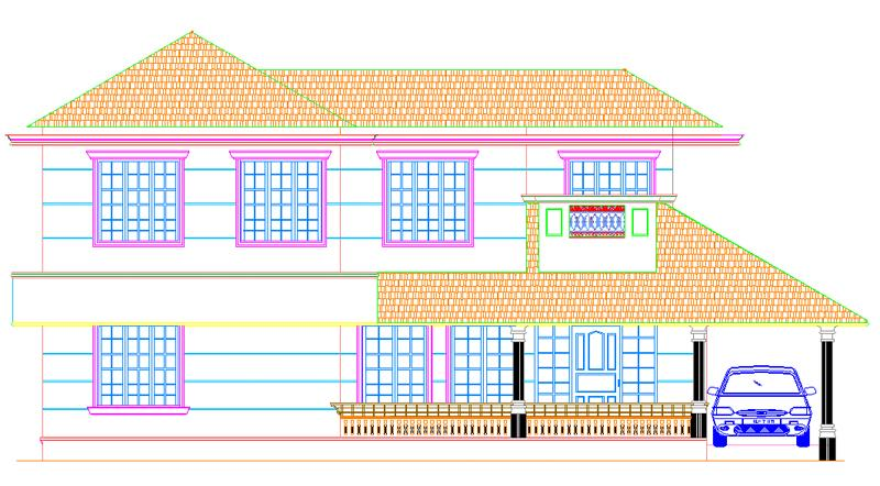Ente veedu ente veedu new elevation 13278 for Veedu plans and elevations