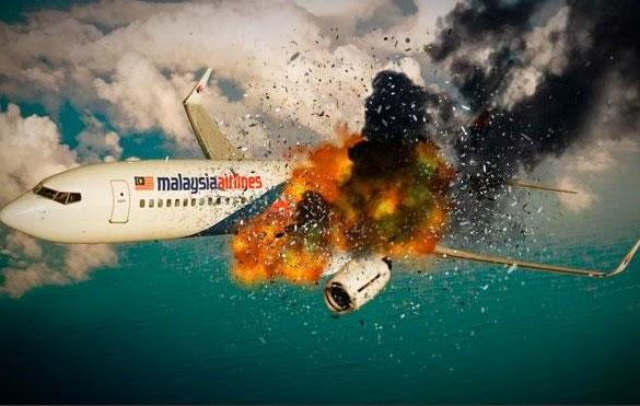 MAS MH17 dirudal - ilustrasi