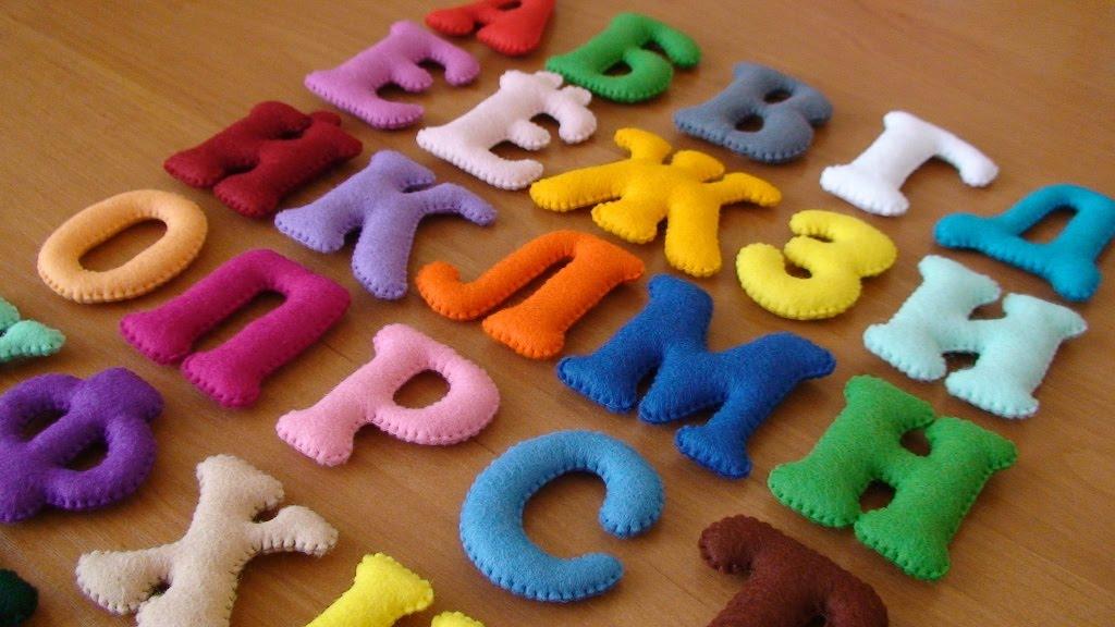 Как сделать объемные буквы из ткани своими руками