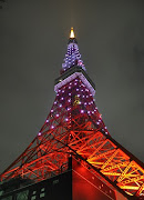 東京タワーがピンク?色にライトアップされていました。 (dsc )