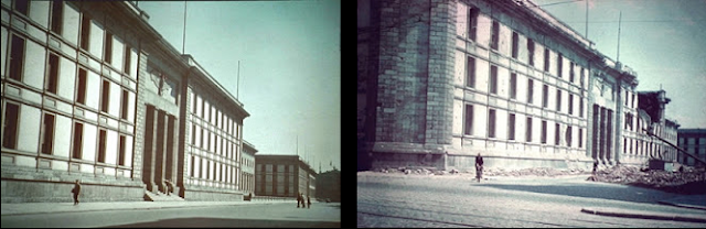 """Führerbunker i (niem., znaczenie dosłowne: """"bunkier Wodza"""" lub """"bunkier Führera"""") – wspólna nazwa dla kompleksu dwóch schronów przeciwlotniczych pod Starą Kancelarią Rzeszy w Berlinie (Niemcy), gdzie Adolf Hitler spędził ostatnie tygodnie swego życia, a także miejsce, gdzie wraz z Evą Braun popełnił samobójstwo (zob. śmierć Hitlera). Führerbunker był ostatnim z miejsc pełniących rolę FHQ - Głównej Kwatery Wodza.  Spis treści      1 Historia i architektura         1.1 Opis     2 Przebieg wydarzeń w 1945     3 Powojenne losy bunkra     4 Film i TV         4.1 Fabularne         4.2 Dokumentalne     5 Zobacz też     6 Bibliografia     7 Linki zewnętrzne     8 Przypisy  Historia i architektura  Tzw. bunkier Hitlera stanowiły w kwietniu 1945 dwa podstawowe obiekty:      stary schron tzw. """"bunkier przedni"""", wybudowany pod wielkim hallem będącym salą recepcyjną tzw. Pałacu Radziwiłłowskiego – Starej Kancelarii Rzeszy w Berlinie przy Wilhelmstraße 77. Schron ten nie """"wystawał"""" poza obrys fundamentu sali recepcyjnej pałacu.     nowy schron tzw. """"bunkier tylny"""" lub """"bunkier Hitlera"""", wybudowany pod ogrodami Kancelarii Rzeszy, patrząc od strony Pałacu Radziwiłłowskiego, za """"bunkrem przednim"""" i głębiej od niego. Od strony Nowej Kancelarii Rzeszy, noszącej adres Voßstraße 6, obiekt ten znajdował się ok. 120 metrów na północny wschód, na głębokości według jednych źródeł ok. 8, innych zaś 17 metrów pod powierzchnią gruntu.  Opis  Obydwa bunkry wybudowane zostały w przybliżeniu na podobnym planie. Łączyła je klatka schodowa w kształcie graniastosłupa o podstawie kwadratu. Łączna powierzchnia użytkowa obu bunkrów wynosiła ok. 700 metrów kwadratowych. Każdy z nich mieścił od 12 do 18 pomieszczeń o powierzchni rzędu 3x4 metry. Niektóre z nich nie miały ścian działowych, co podwajało lub potrajało powierzchnię użytkową. Środkiem obu biegły przedzielone korytarze, a utworzone w ten sposób dodatkowe pomieszczenia o powierzchniach ok. 10-14 metrów kwadratowych każde, wykorzystywane były od"""