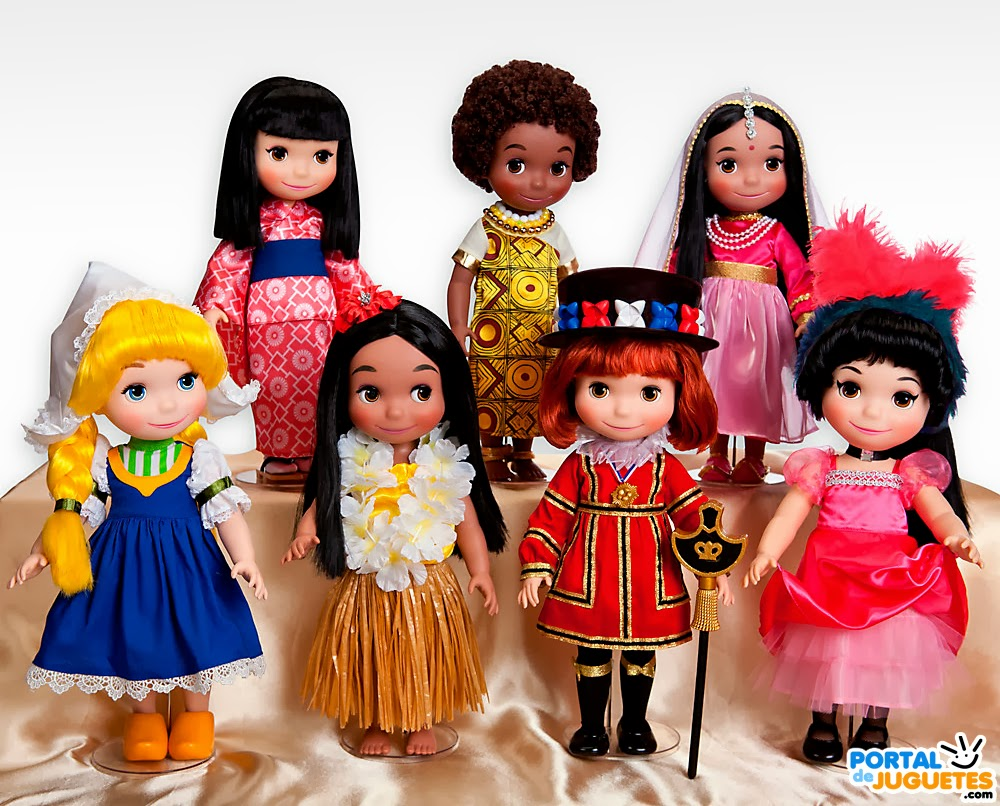 muñecas its a small world disney animators coleccion completa