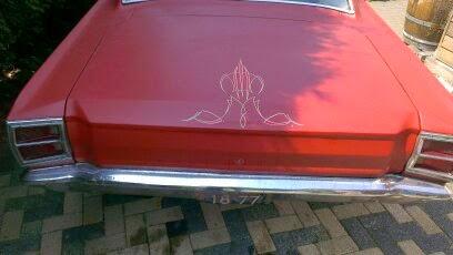 Pinstriping mijn Dodge Dart