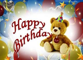Kartu ucapan ulang tahun teddy bear untuk sahabat tercinta dalam bahasa inggris